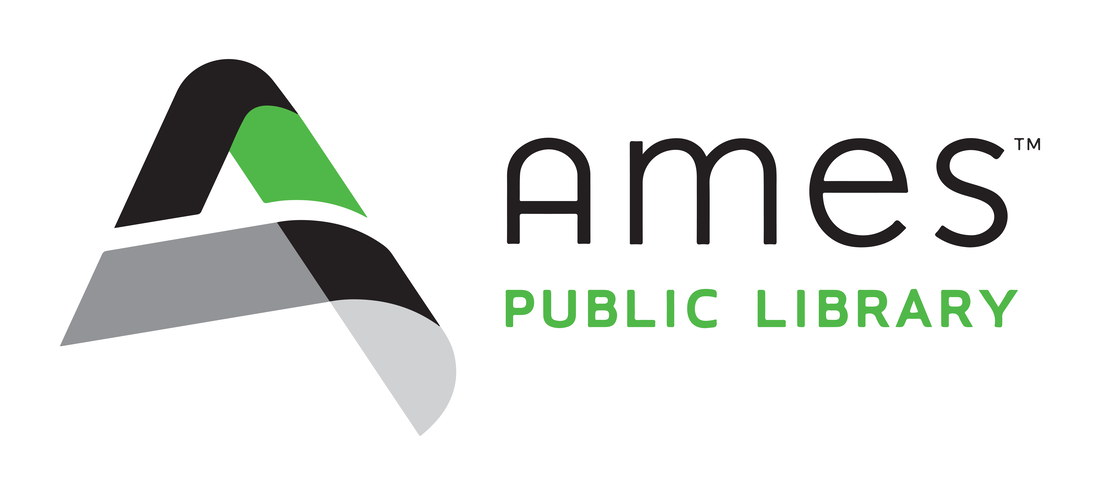 Logo of Ames Public Library.