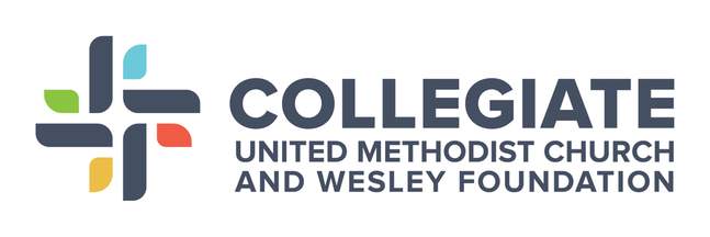 Logo of Collegiate United Methodist Church and Wesley Foundation.